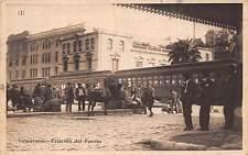 VALPARAISO, CHILE ~ RAILROAD STATION, TRAIN, PEOPLE ~ used 1926