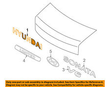 HYUNDAI OEM 06-10 Sonata Trunk Lid-Emblem Badge Nameplate 863213K000