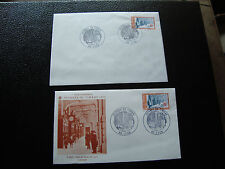 FRANCE - 2 enveloppes 1er jour 10/3/1979 (journee du timbre) (cy25) french