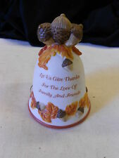 Vintage Ceramic Bell. Thanksgiving. No Chips or Cracks. Nice! FREE SHIP IN USA