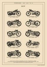DKW TOURENMODELL SPORTMODELL MOTORRÄDER RT NZ250 A3 Typentafel 1935 - 1938 14