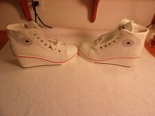 "White wedge sneakers 3"" Heel"