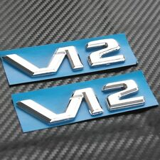 2x V12 BITURBO Emblems Car Badge Decal Sticker Mercedes-Benz CL65 CLS600 S65 AMG