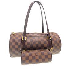 LOUIS VUITTON Damier Ebene Papillon 30 Hand Bag Pouch N51303 LV Auth ar2610