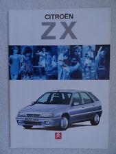 Citroen ZX brochure 1994 - Reflex, Avantage, Furio,Aura,Volcane,16V Hatch/Estate