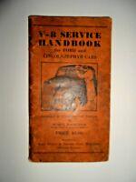 Vintage Ford '37 V-8 Service Handbook Ford Motor Co  Lincoln Zephyr Mercury