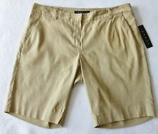 """THEORY """"Lucas"""" Linen Blend Crunch Shorts in Toast ~ NWT ~ 4 MSRP $225"""