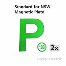 2 pieces Magnetic Plates of Green P Plates package for NSW driver free shipping