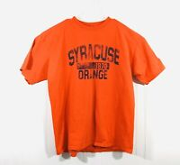 CHAMPION Authentic SYRACUSE Orange Distressed Tee Shirt Mens XL T-Shirt Cotton