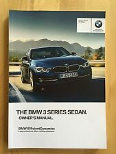 New BMW Owner's Manual 3 Series 320i 328i 335i 340i X-Drive 2013-17