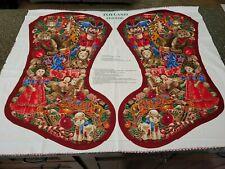 Toyland Stocking Panel 34x42 VIP Christmas