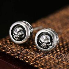 Aretes Stud 28 Plata esterlina 925 diseño de cráneo sólida Mariposa Espalda