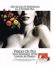 PUBLICITE ADVERTISING 074  1990  PERLES DE FEU    glaces aux fruits