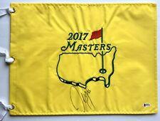 Sergio Garcia signed 2017 Masters flag augusta golf 2020 pga beckett coa
