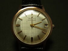 Zenith Rose Gold Filled Automatic Wristwatch /w Date - Good
