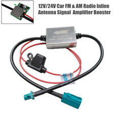 12V/24V 70-110MA Car Auto FM&AM Radio Inline Antenna Signal Amplifier Booster