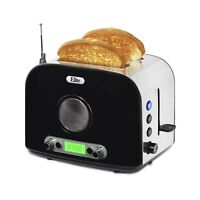 Elite Platinum ERT-6067 Maxi-Matic 2-Slice Multi-Function Radio Toaster, Silv...