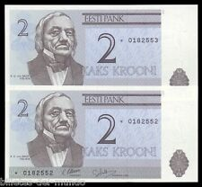 B-D-M Estonia 2 Krooni 1992 Pick 70r Replazament SC UNC