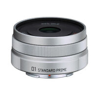 New Pentax 01 STANDARD PRIME Lens for Q Mount - SILVER
