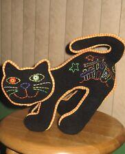 Halloween Felt Stitched Arched Back Black Cat 2005