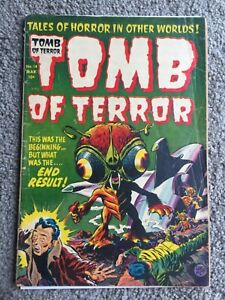 RARE 1954 GOLDEN AGE TOMB OF TERROR #14 COMPLETE