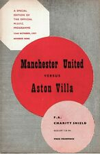 More details for scarce football programme manchester united v aston villa charity shield 1957