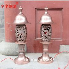 61cm Chinese copper Decorative Arts Lamps dragon phoenix desk lamp table lamp