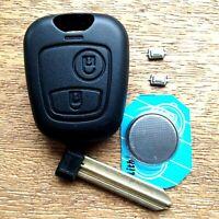 FULL Repair Kit Fits Partner Boxer Expert Peugeot 2 Button Remote Key Fob Case