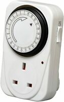 Power-Pro 7 Day Programmable Mechanical Timer Switch for Mains Plug