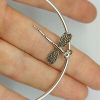 Solid sterling silver 925 bangle bracelet Bz480-9 womens jewellery dragonfly