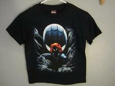 NEW MARVEL COMICS SPIDERMAN KIDS L LARGE 6X BLACK SHIRT 68MX