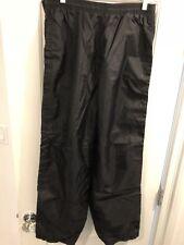Rare ADIDAS VTG 80s Tear Off Snap Black Track Sweat Nylon Pants Mens Size Large