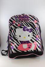 Blanco y Negro Estampado de Cebra & Púrpura con Brillos & Rosa Hello Kitty