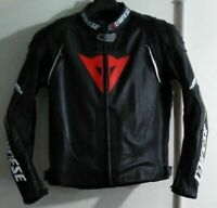 BLACK MOTOGP MOTORCYCLE MOTORBIKE COWHIDE LEATHER BIKERS RACING JACKET