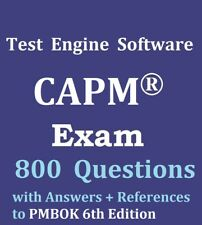 CAPM Exam 800 Questions Bank Test Engine Software Not Exam Simulator PMBOK 6 Ed