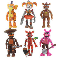 "6 pcs FNAF Five Nights At Freddy's Pizza Simulator 5.5"" Action Figures Game Toys"