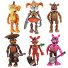 """6 pcs FNAF Five Nights At Freddy's Pizza Simulator 5.5"""" Action Figures Game Toys"""
