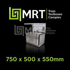 ALUMINIUM GENERATOR TOOLBOX 750*500*550mm TOOL BOX MRT12 CHECKERPLATE 2.5MM