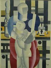 SEMINAL 1921 FRAMED FERNAND LEGER Léger LITHO PRINT: La Femme et l'Enfant