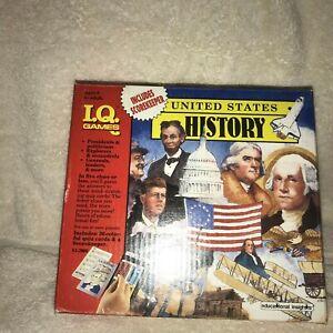 Vintage 1989 I.Q. Games US History Flash Card Quiz Game Educational Insights