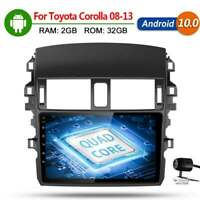 Android 10.0 Car Radio Multimedia Player Gps Navigation For Toyota Corolla 08-13