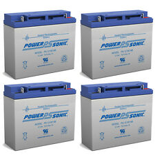 Power-Sonic 4 Pack - RBC11 RBC55 Replacement Battery for APC UPS SU2000 SU2200RM