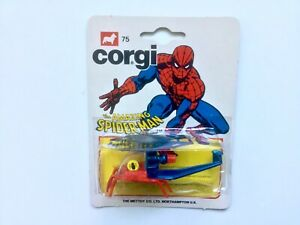 CORGI JUNIORS 75 AMAZING SPIDERMAN HELICOPTER SPIDER COPTER MINT SEALED ON CARD