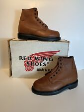 New Mens Red Wing Boots Size 7 E Style 02241 Brown Missing Laces Comfort Force