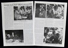 SADDLERS OF KANPUR INDIA SADDLERY HORSE TACK LEATHER WORK 2pp PHOTO ARTICLE 1976