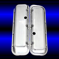 Polished Aluminum Ballmilled Short Valve Covers For Big Block Chevy 396 427 454