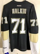 Reebok Women's Premier NHL Jersey Pittsburgh Penguins Malkin Black sz L