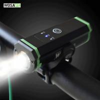 Bicycle MTB LED Light Front Headlight USB Rechargeable Flashlight Bike Accessory