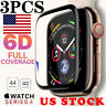 3x Tempered Glass Screen Protector For Apple Watch iWatch 4 3 2 1 38/40/42/44 mm