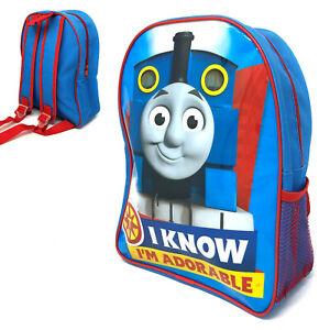 THOMAS TANK & FRIENDS I'M ADORABLE BACKPACK SCHOOL JUNIOR BAG CHILDREN KID BLUE